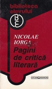 Pagini de critica literara