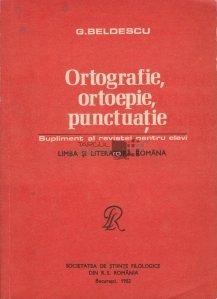 Ortografie, ortoepie, punctuatie