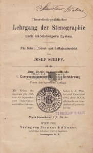 Lehrgang der Stenographie / Curs de stenografie
