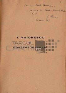 T. Maiorescu si contemporanii lui