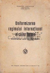 Uniformizarea regimului international al cailor ferate