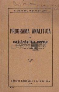 Programa analitica a invatamantului primar