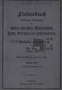 Liederbuch / Carte de cantece