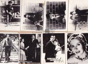 784 fotografii album actori romani si straini  9 x 6 cm
