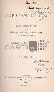 Persian plays / Piese de teatru persane;Trei piese persane cu traducere in limba engleza si vocabular