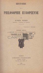 Histoire de la philosophie europeenne / Istoria filosofiei europene