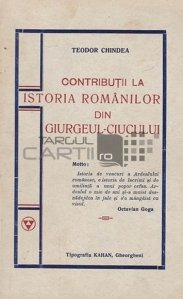 Contributii la istoricul romanilor din Giurgeul-Ciucului