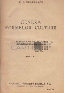 Geneza formelor culturii