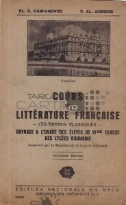Cours de litterature francaise / Curs de literatura franceza