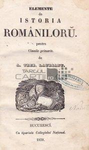 Elemente de istoria romaniloru