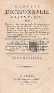 Nouveau dictionnaire historique / Noul dictionar istoric