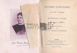 Oeuvres posthumes / Muguri de aprilie;Fantezii si vise