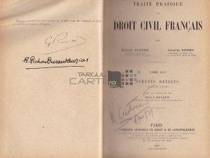 Traite pratique de droit civil francais / Tratat practic de drept civil francez;Drepturi reale partea a doua