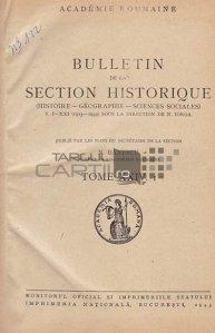 Bulletin de la section historique / Buletinul sectiunii istorice;istorie geografie stiinte sociale