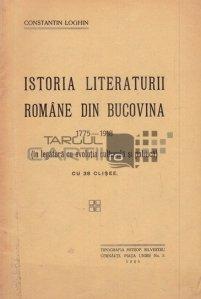 Istoria literaturii romane din Bucovina 1775-1918