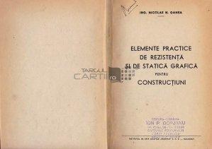 Elemente practice de rezistenta si de statica grafica pentru constructiuni