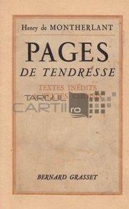 Pages de tendresse / Pagini de tandrete; pagini alese si inedite