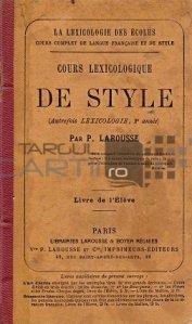 Cours lexicologique de style / Curs lexicologic de stil