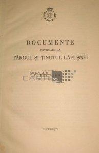 Documente privitoare la targul si tinutul Lapusnei