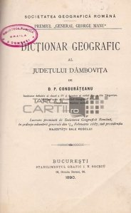 Dictionar geografic al judetului Dambovita