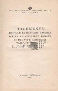 Documente privitoare la legaturile economice dintre Principatele Romane si regatul Sardiniei
