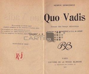 Quo Vadis / Roman din vremea lui Nero