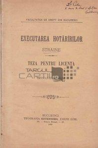 Executarea hotaririlor straine;Principiul nationalitatilor si societatea natiunilor