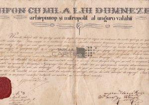 Act 1859 5 martie Nifon arhiepiscop si mitropolit al Ungrovalahii