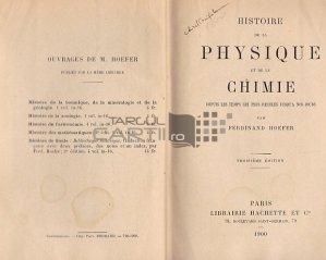 Histoire de la physique et de la chimie / Istoria fizicii si a chimiei