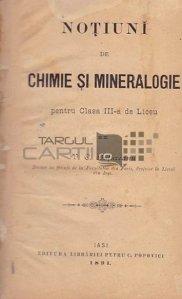 Notiuni de chimie si mineralogie;Cursu de chimie elementara