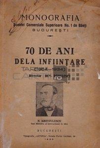 Monografia scoalei comerciale superioare nr. 1 de baeti Bucuresti