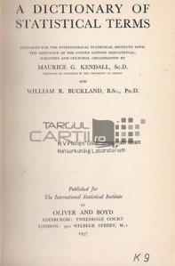 A dictionary of statistical terms / Dictionar de termeni statistici