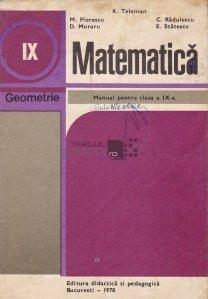 Matematica, manual pentru clasa a IX-a