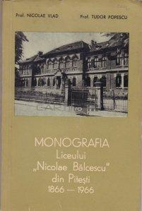 Monografia liceului Nicolae Balcescu din Pitesti 1866-1966