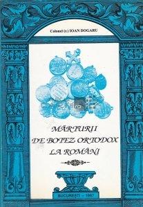 Marturii de botez ortodox la romani