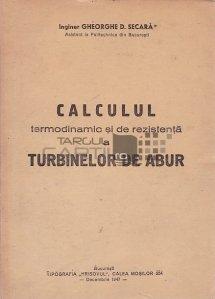 Calculul termodinamic si de rezistenta a turbinelor de abur