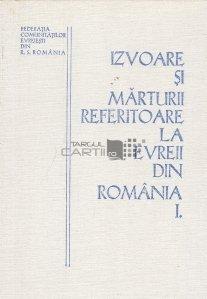 Izvoare si marturii referitoare la evreii din Romania