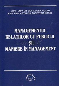 Managementul relatiilor cu publicul si maniere in management