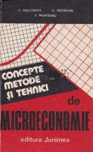 Concepte, metode si tehnici de microeconomie