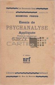 Essais de Psychanalyse Appliquee / Eseuri de psihanaliza aplicata