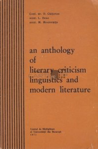 An Anthology of Literary Criticism Linguistics and Modern Literature