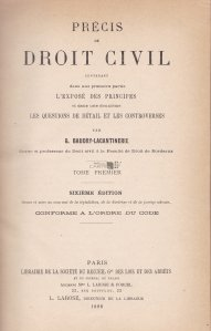 Precis de deroit civil / Drept civil specific