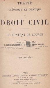 Traite theorique et pratique de droit civil