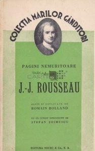 Pagini nemuritoare ale lui J.-J. Rousseau