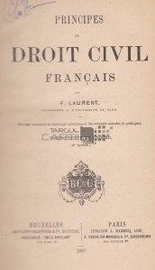 Principes de droit civil francais / Principii de drept francez
