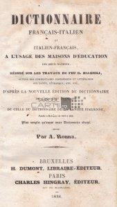 Dictionnaire francais-italien et italien-francais / Dictionar francez-italian si italian-francez