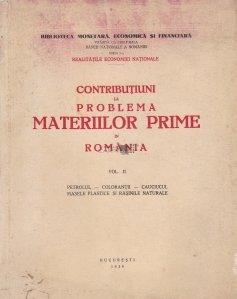 Contributiuni la problema materiilor prime in Romania