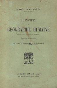 Principes de geographie humaine / Principiile geografiei umane