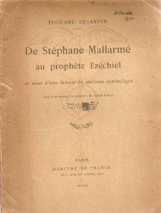 De Stephane Mallarme au prophete Ezechiel