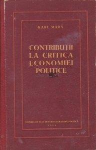 Contributii la critica economiei politice